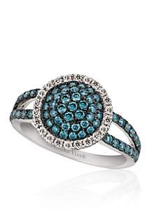 Le Vian® Iced Blueberry Diamond® and Vanilla Diamond® Ring in 14k Vanilla Gold®