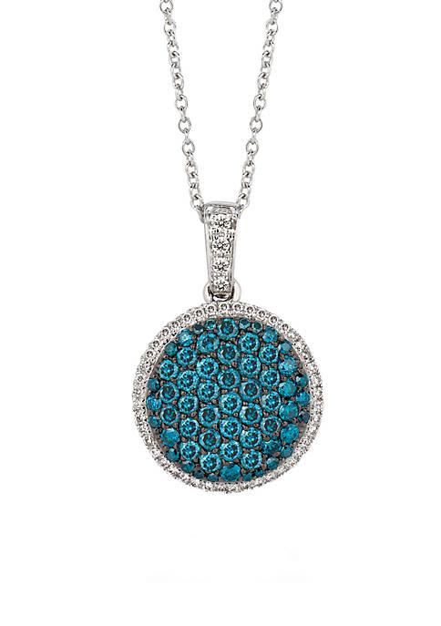 Iced Blueberry Diamond® and Vanilla Diamond® Pendant in 14k Vanilla Gold®