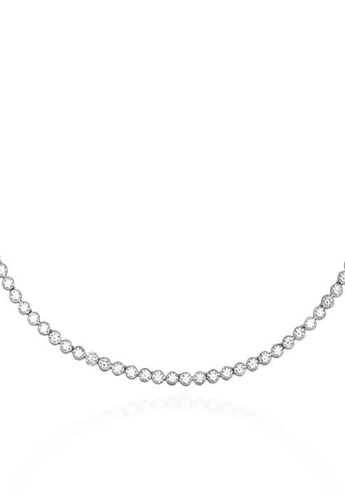 Belk & Co. Platinum Plated Sterling Silver Cubic