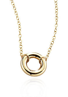 Belk & Co. 14k Yellow Gold Small Open Circle Pendant