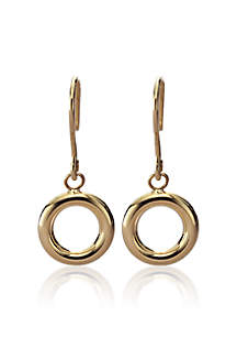 14k Yellow Gold Small Open Circle Earring