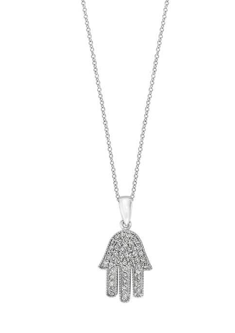 1/4 ct. t.w. Diamond Pendant Necklace in 14K White Gold