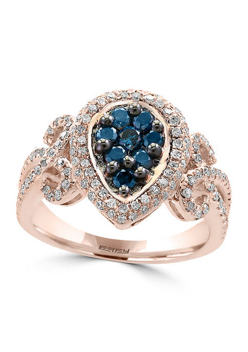 Effy® 1/2 ct. t.w. Blue Diamond and 1/2