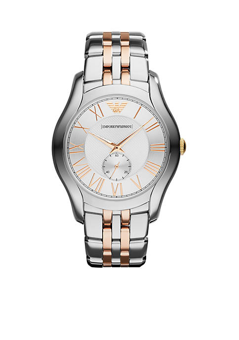 Emporio Armani® Two Tone Stainless Steel Three Hand