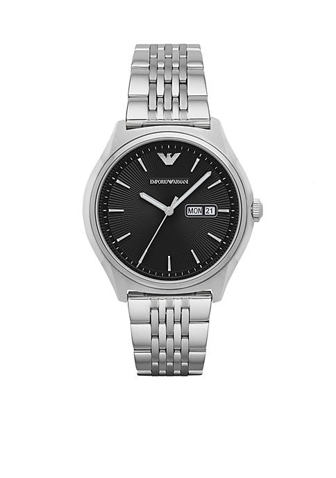 Emporio Armani® Mens Zeta Three-Hand Stainless Steel Watch