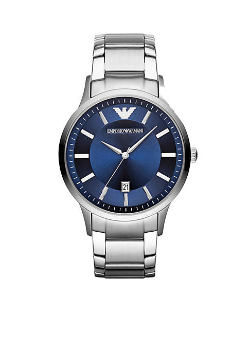 Emporio Armani® Mens Stainless Steel Three Hand Watch