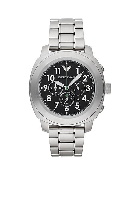 Emporio Armani® Mens Sport Stainless Steel Bracelet Chronograph