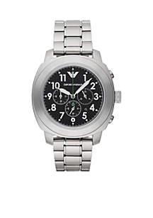 Men's Sport Stainless Steel Bracelet Chronograph Watch