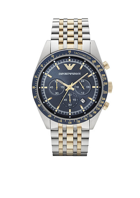 Mens Two-Tone Chronograph Watch