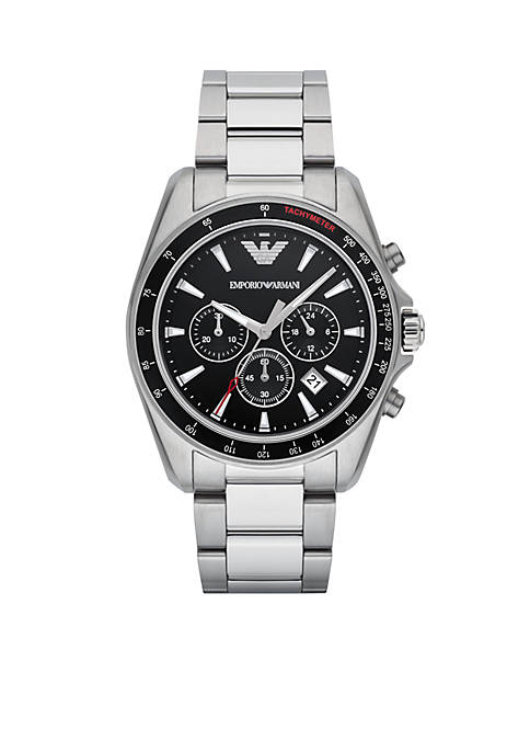 Emporio Armani® Mens Sigma Chronograph Stainless Steel Watch