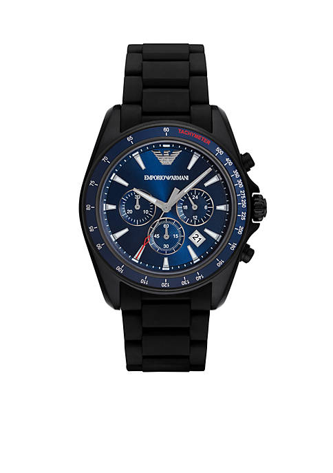 Emporio Armani® Mens Sigma Black Chronograph Watch