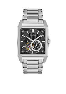 Men's Silver-Tone Automatic Watch