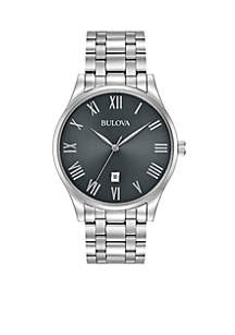 Men's Classic Watch with Gunmetal Dial
