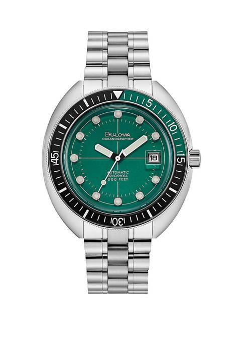 Bulova Mens Stainless Automatic Dial Bracelet Watch