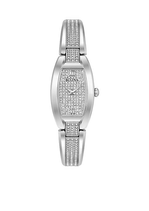 Bulova Womans Silver-Tone Bangle Watch