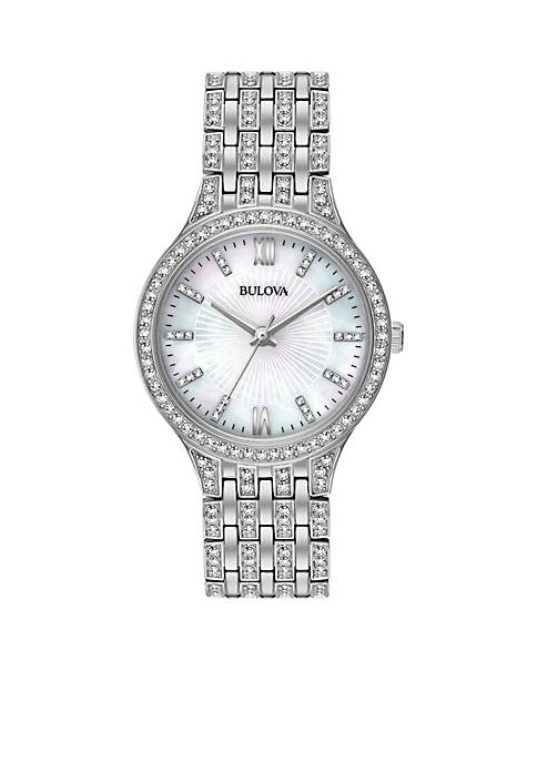 Bulova Womens Silver-Tone Slim Watch