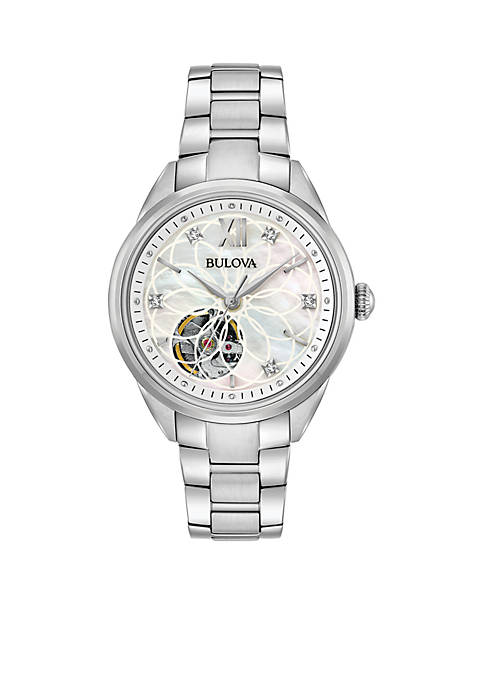 Bulova Womens Diamond Automatic Watch