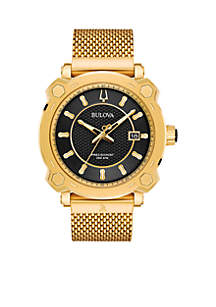 Men's Precisionist GRAMMY Gold-Tone Stainless Steel Mesh Bracelet Watch