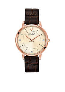 Women's Rose-Gold-Diamond Watch