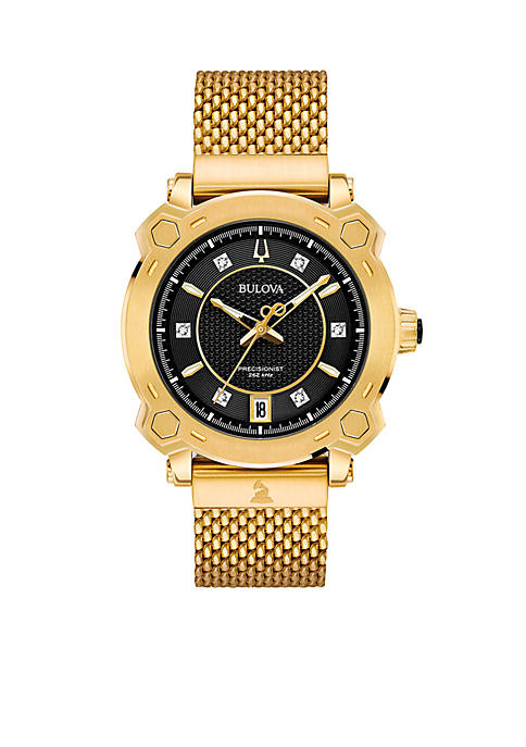 Bulova Womens Precisionist GRAMMY Diamond-Accent Gold-Tone