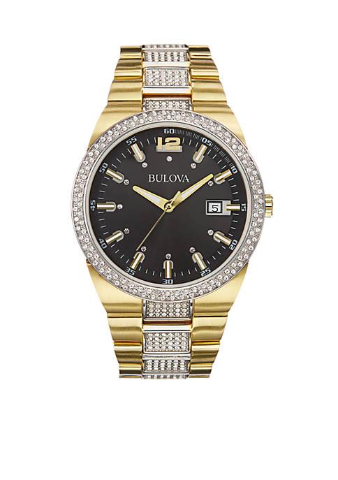 Black Dial Gold Bracelet Watch