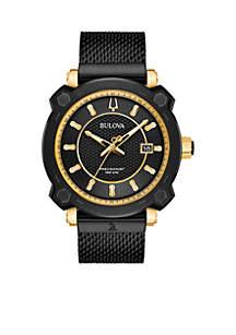 Men's Precisionist GRAMMY Black Stainless Steel Mesh Bracelet Watch