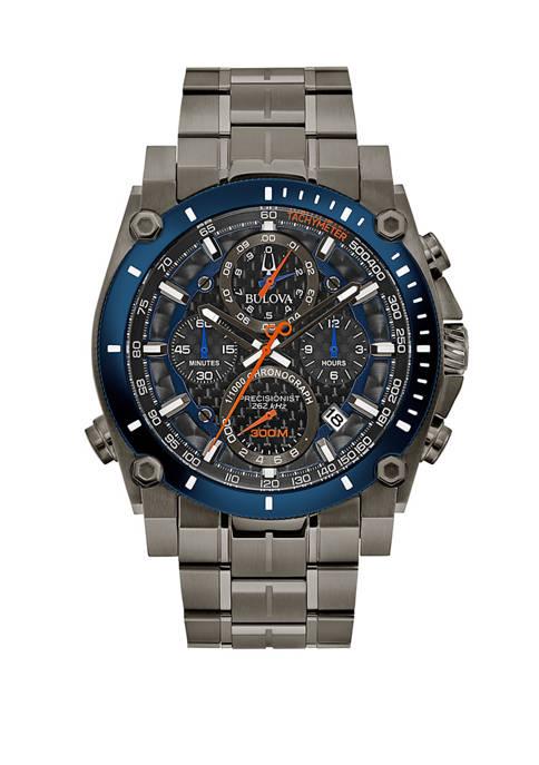 Bulova Mens Stainless Chronograph Bracelet Watch