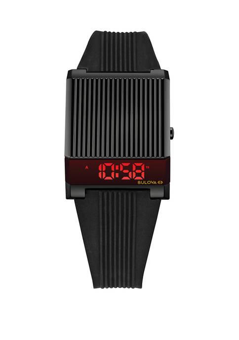 Bulova Mens Computron Retro Digital Bracelet Watch