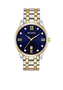 Men's Classic Two-Tone Watch