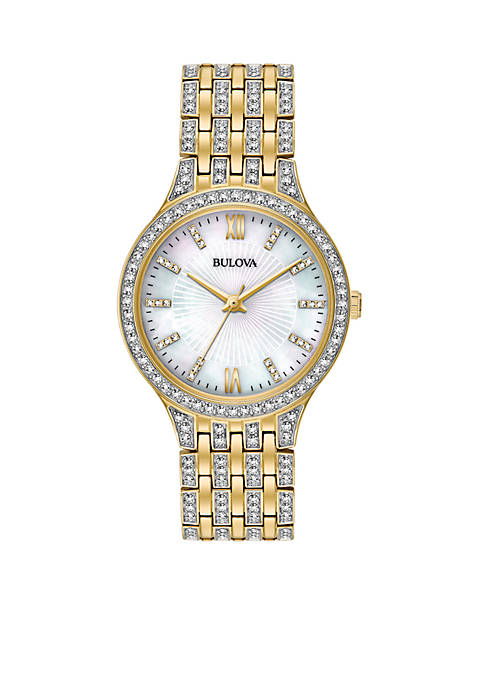 Bulova Womens Slim Gold-Tone Watch