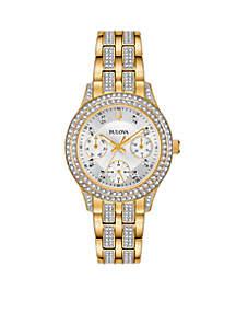 Women's Gold-Tone Swarovski Crystal Watch