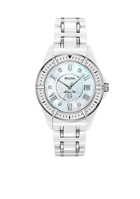 Bulova Womens Marine Star Diamond Watch