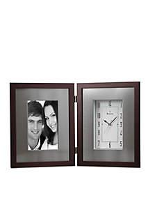 Bulova Windfield Picture Frame Clock