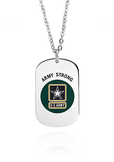 Belk & Co. Stainless Steel Army Strong Dog