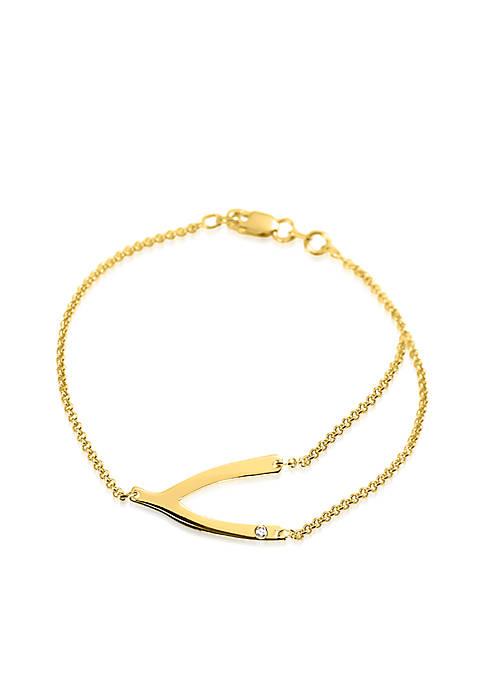 Belk & Co. 14k Yellow Gold Wishbone Bracelet