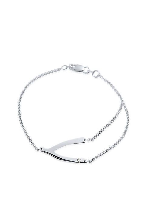 Sterling Silver Wishbone Bracelet