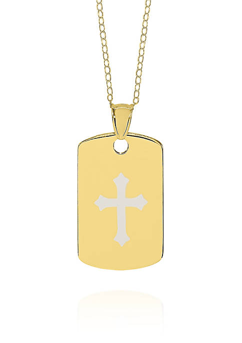 Belk & Co. 14k Yellow Gold Cross Dog