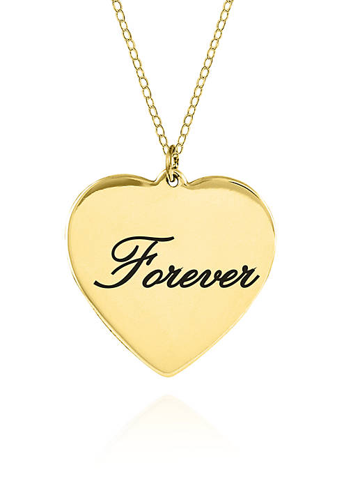 Belk & Co. 10k Yellow Gold Forever Heart