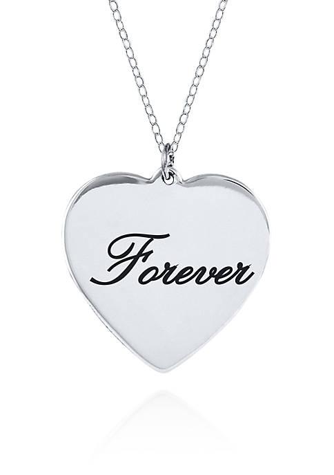 Belk & Co. Sterling Silver Forever Heart Pendant