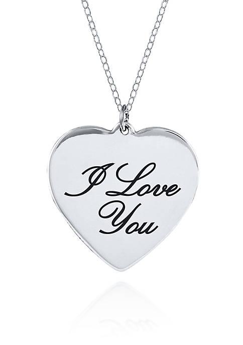 Belk & Co. Sterling Silver I Love You