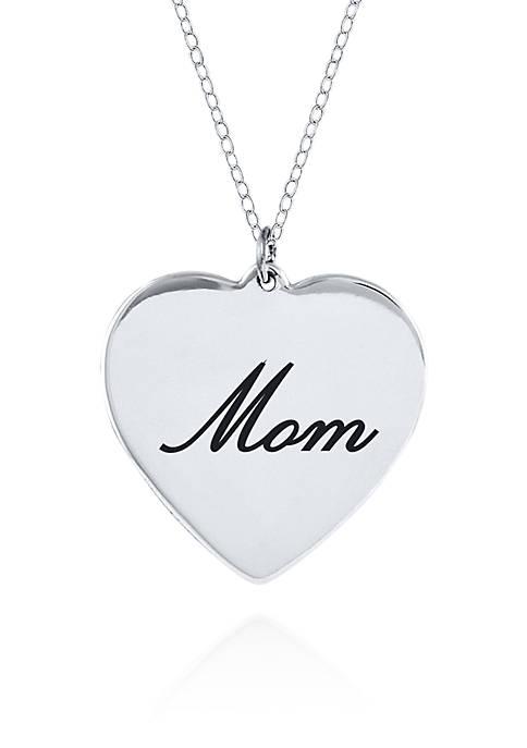 Belk & Co. Sterling Silver Mom Pendant