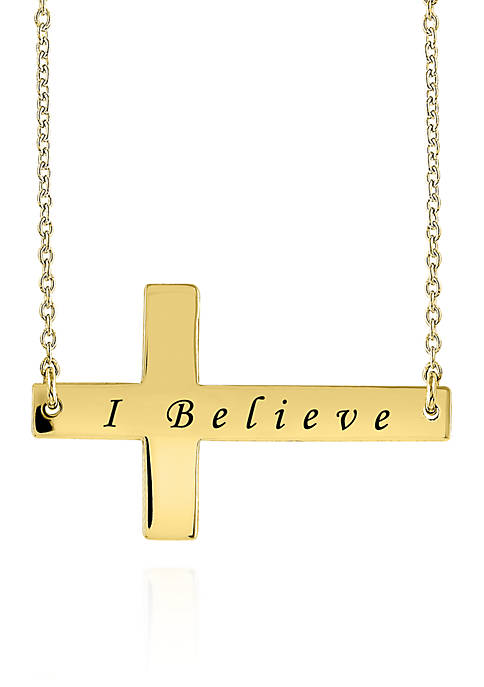 Belk & Co. 14k Yellow Gold Sideways Cross