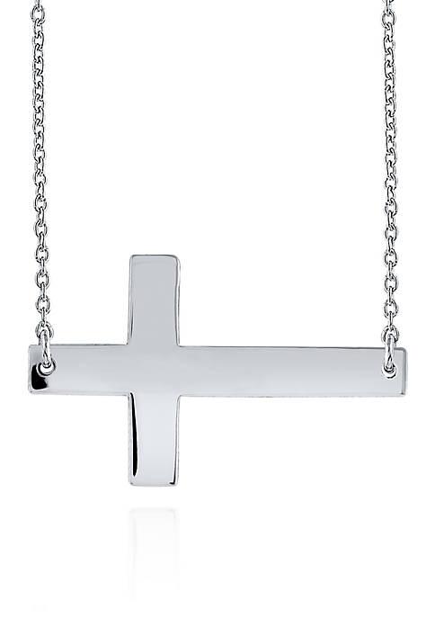 Belk & Co. Sterling Silver Sideways Cross Necklace
