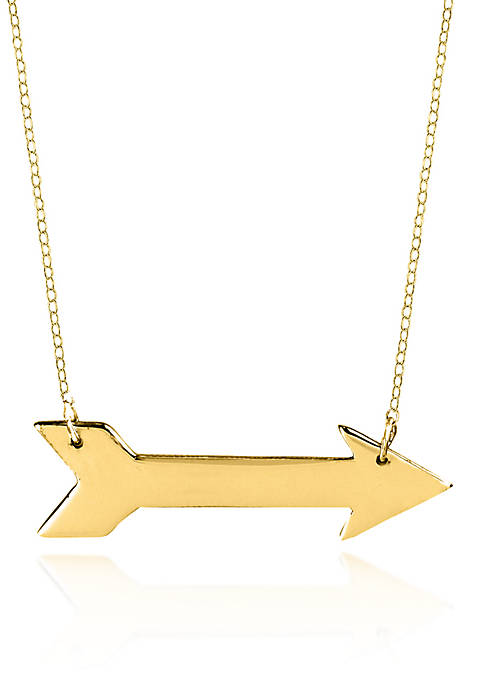 Belk & Co. 10k Yellow Gold Arrow Necklace
