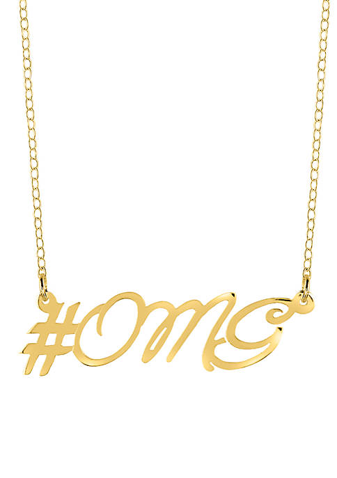 Belk & Co. 10k Yellow Gold OMG Necklace