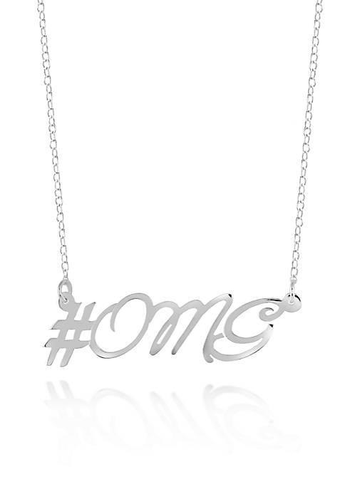 Belk & Co. Sterling Silver OMG Necklace