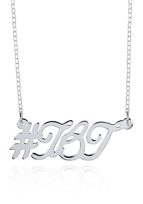 Sterling Silver Hashtag TBT Necklace