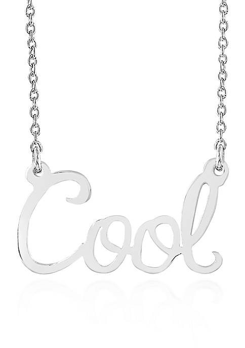 Belk & Co. Sterling Silver Cool Necklace
