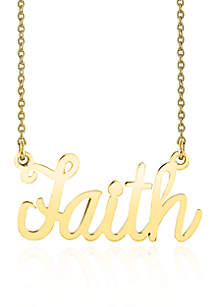 Belk & Co. 10k Yellow Gold Faith Necklace