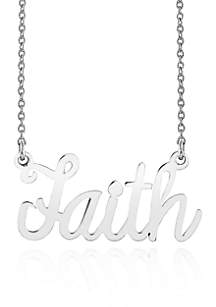 Belk & Co. Sterling Silver Faith Necklace
